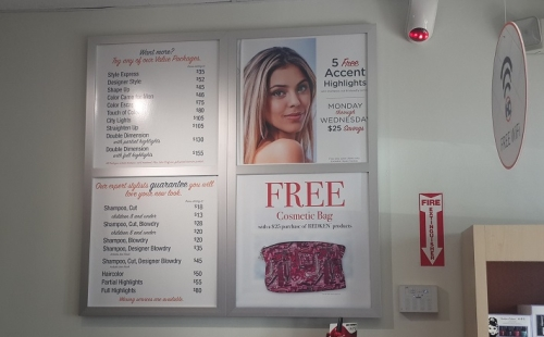 Menu Boards for Hair Salons